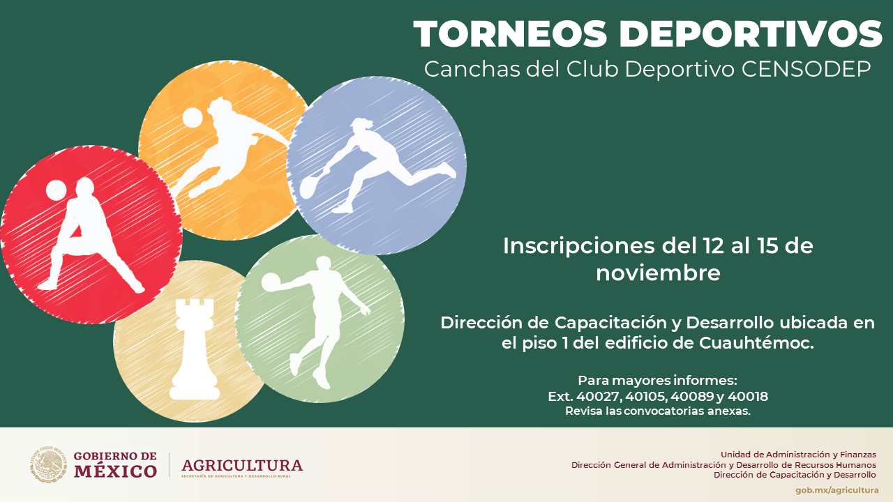 Convocatoria | Torneos Deportivos 2019