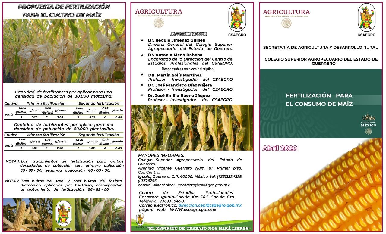 Triptico de Fertilización y consumo de Maíz - Abril 2020 (1)