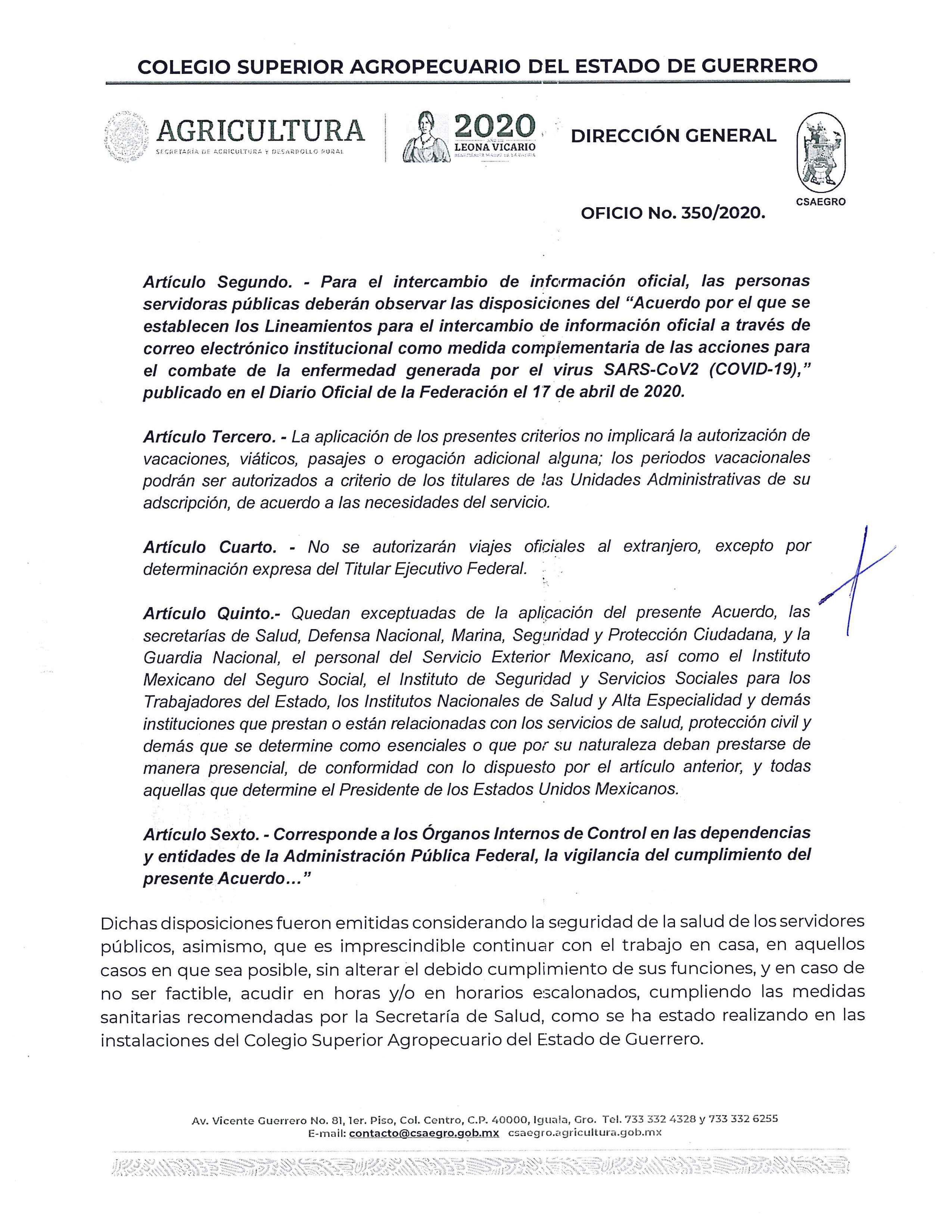Oficio No.350.2020 Comunicado General CSAEGRO Pag. 3