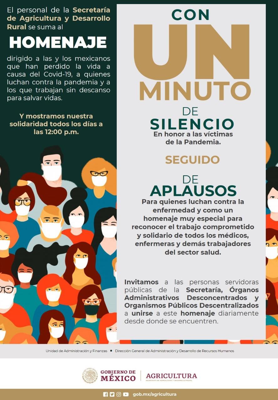 MINUTO DE SILENCIO Y HOMENAJE -VICTIMAS COVID19