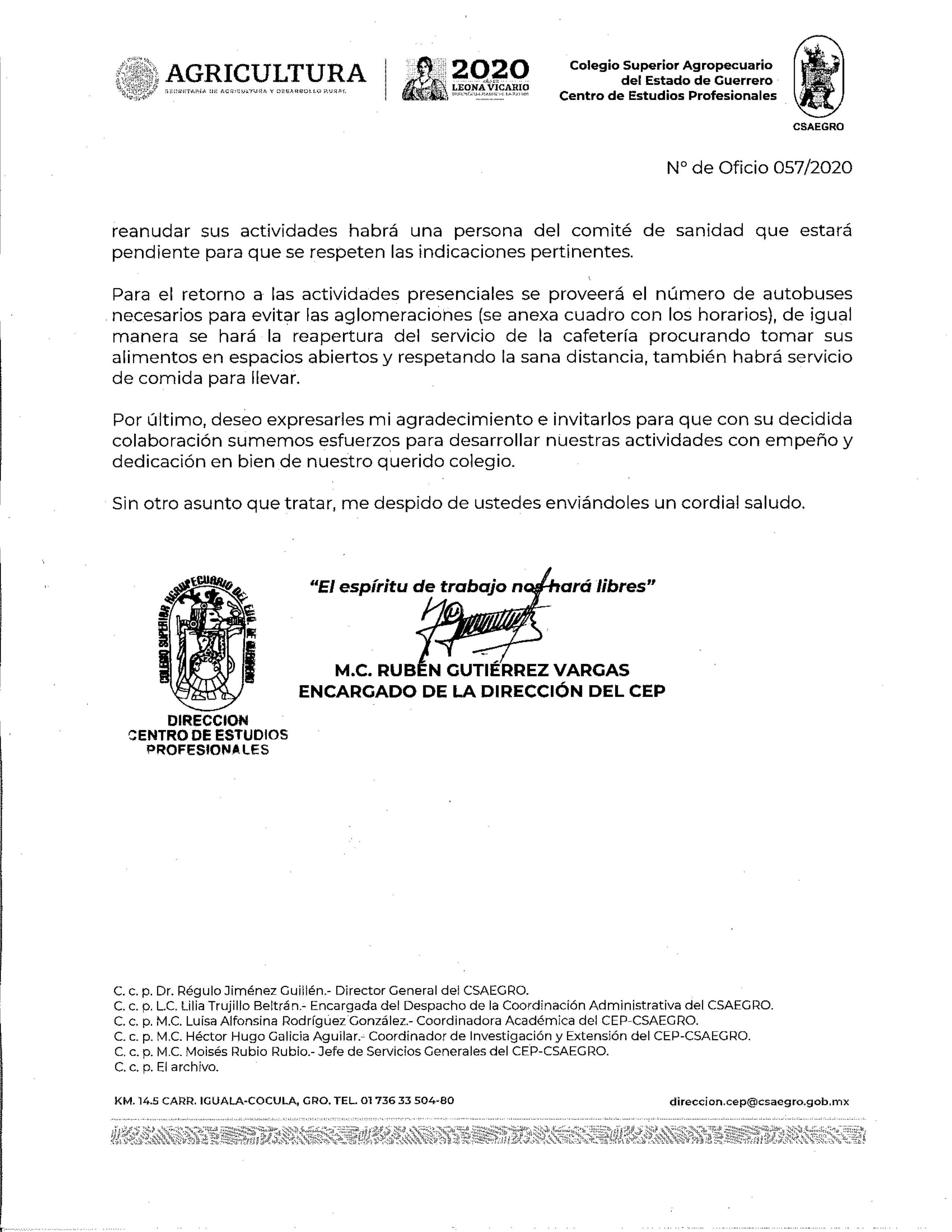 Oficio No. 057-2020 Reincorporación actividades presenciales CEP pag.2