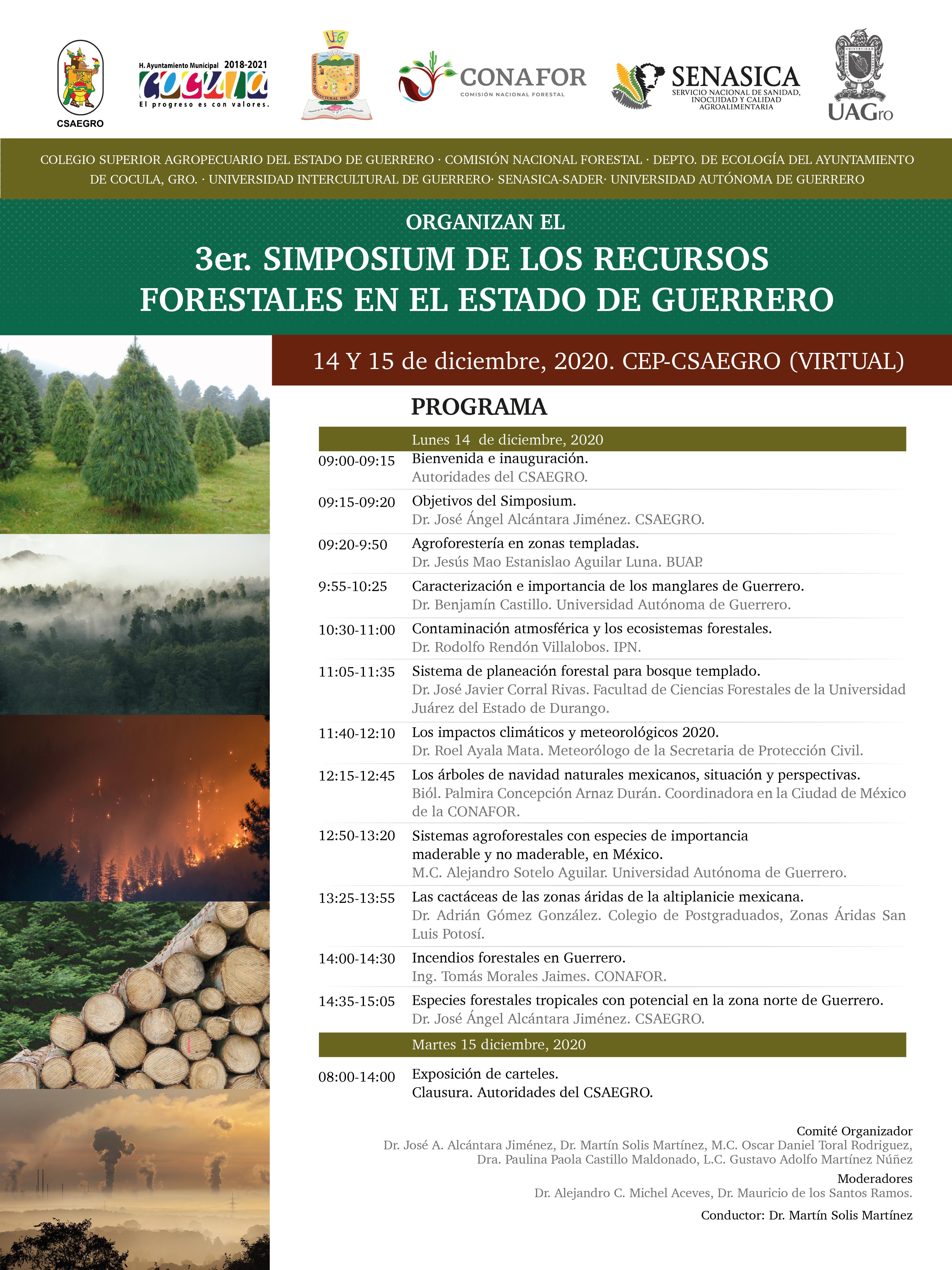 3er. Simposium de los Recursos Forestales en el Estado de Guerrero