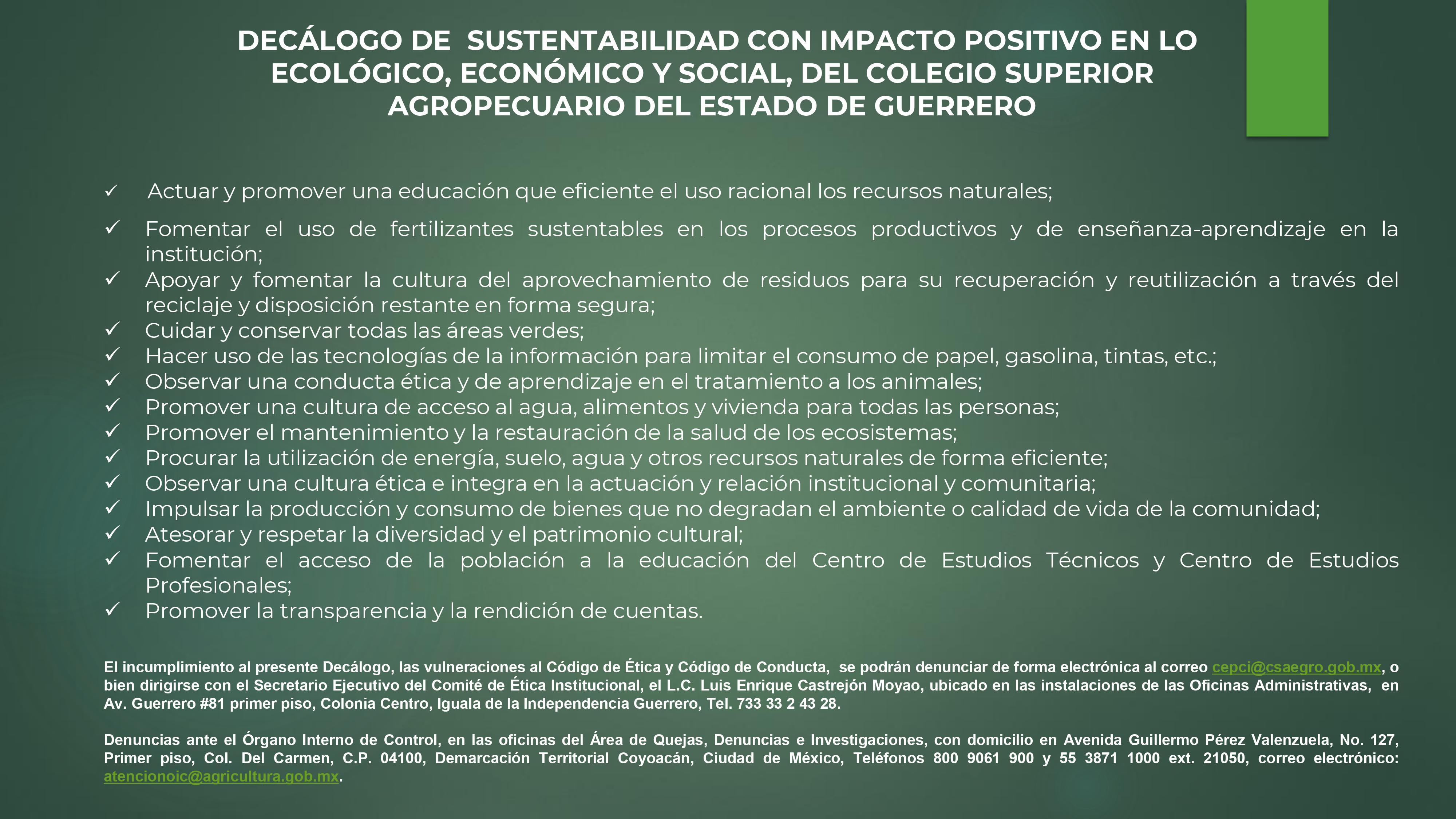 Decálogo de Sustentabilidad CSAEGRO-01